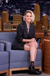 Kristen Stewart at the Tonight Show with Jimmy Fallon in New York City, July 2016