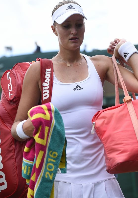Kristina Mladenovic – Wimbledon Tennis Championships in London 2nd Round 6/30/2016