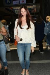 Lana Del Rey in Jeans at LAX, 07/07/2016