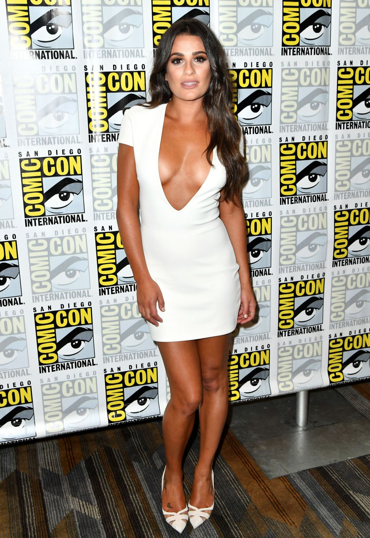 Lea Michele Scream Queens Press Line At Comic Con In