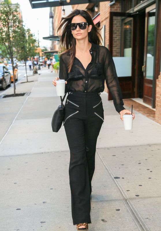 Lily Aldridge Style - Out in NYC, July 2016