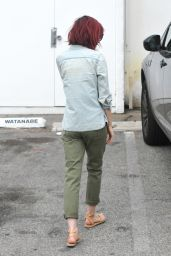 Lily Collins Casual Style - Leaving Her Mom