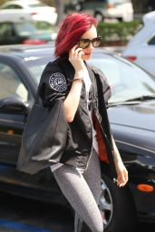 Lily Collins - Heading to the Gym in West Hollywood, 07/07/2016