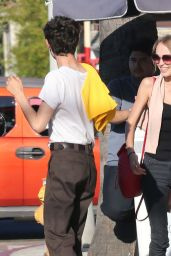 Lily-Rose Depp Street Style - Out for Lunch in Hollywood, July 2016
