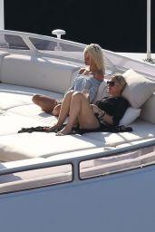 Lindsay Lohan Summer Style - Porto Cervo, July 2016