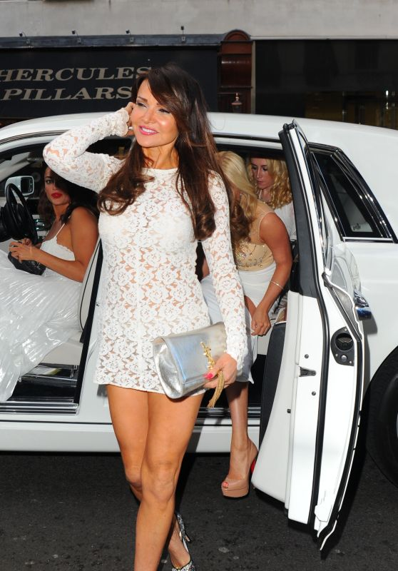 Lizzie Cundy - White Party Cocktail Gala in London 7/2/2016