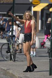 Louisa Johnson Shows Off Her Legs in a Pair of Short Shorts - Manhattan