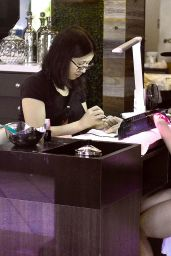 Lucy Hale - Getting a Manicure in Los Angeles, July 2016