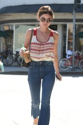 Lucy Hale Street Style - Stopping by Starbucks in Los Angeles 7/21/2016