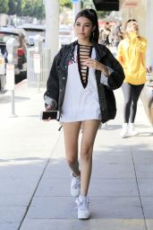 Madison Beer Shows Off Her Legs  - Shopping in Beverly Hills  7/12/2016