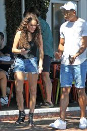 Madison Pettis in Jeans Shorts - Fred Segal