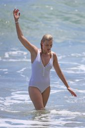 Margot Robbie in Swimsuit - Surfing in Hawaii 7/19/2016
