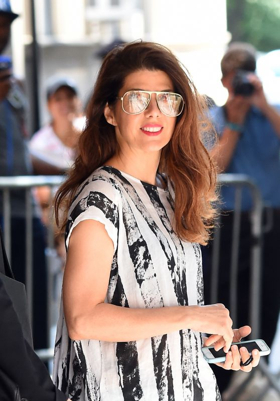 Marisa Tomei in Summer Dress - New York City, 07/20/2016