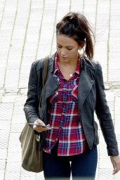 Michelle Keegan – On the Set of 'Our Girl' in Manchester, June 2016