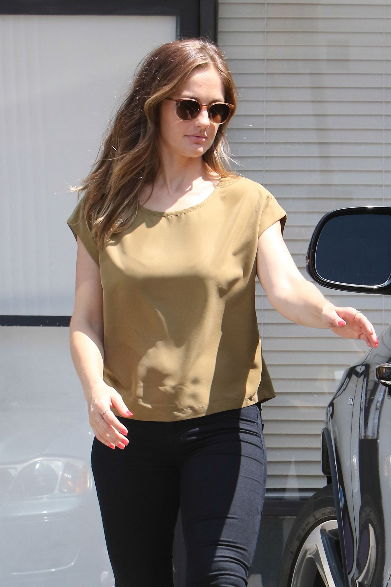 Minka Kelly Casual Style - Out in Beverly Hills, July 2016