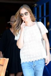 Minka Kelly Street Style - at Kings Road Cafe in West Hollywood 7/6/2016