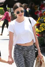 Miranda Kerr in Leggings - Out in NYC 7/11/2016