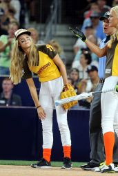 Nina Agdal - 2016 MLB All-Star Legends & Celebrity Softball Game in San Diego, 07/10/2016