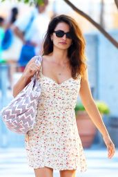 Penélope Cruz in Summer Dress - New York City 07/21/2016