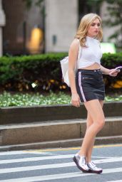 Peyton R. List Inspiring Street Style - Upper East Side in New York City, 07/07/2016