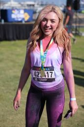 Peyton R. List - The Color Run at Waterfront Park in San Diego, 07/10/2016