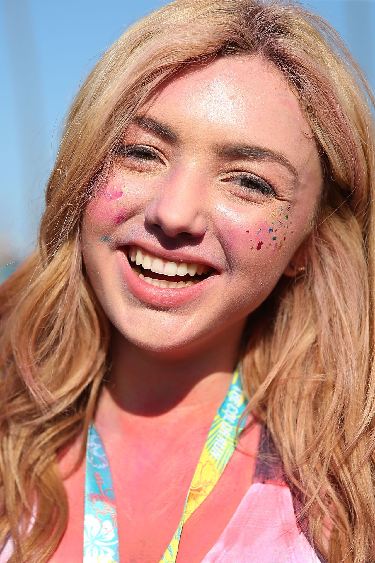 Peyton R List The Color Run At Waterfront Park In San