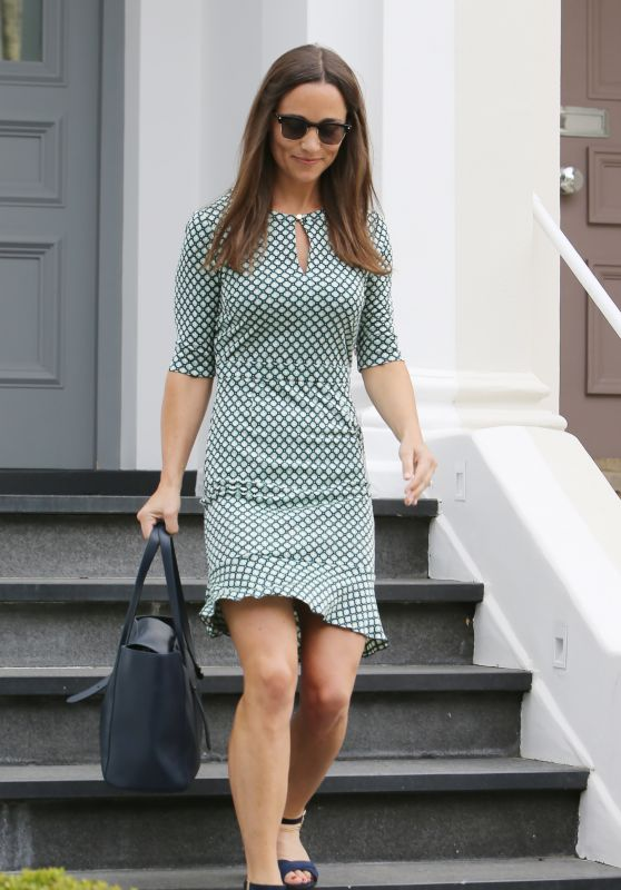 Pippa Middleton Style - Leaving Her Home in London 7/21/2016