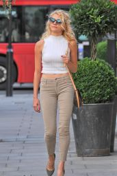 Pixie Lott Arriving at the Hayemarket Theatre in London 7/29/2016
