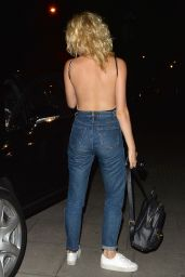 Pixie Lott Booty in Jeans - Leaving The Haymarket Theatre in London 7/4/2016