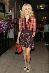 Pixie Lott Cute Outfit - Leaving the Hayemarket Theatre in London 7/8/2016