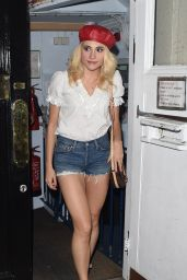Pixie Lott Leggy in Jeans Shorts - London 7/16/2016