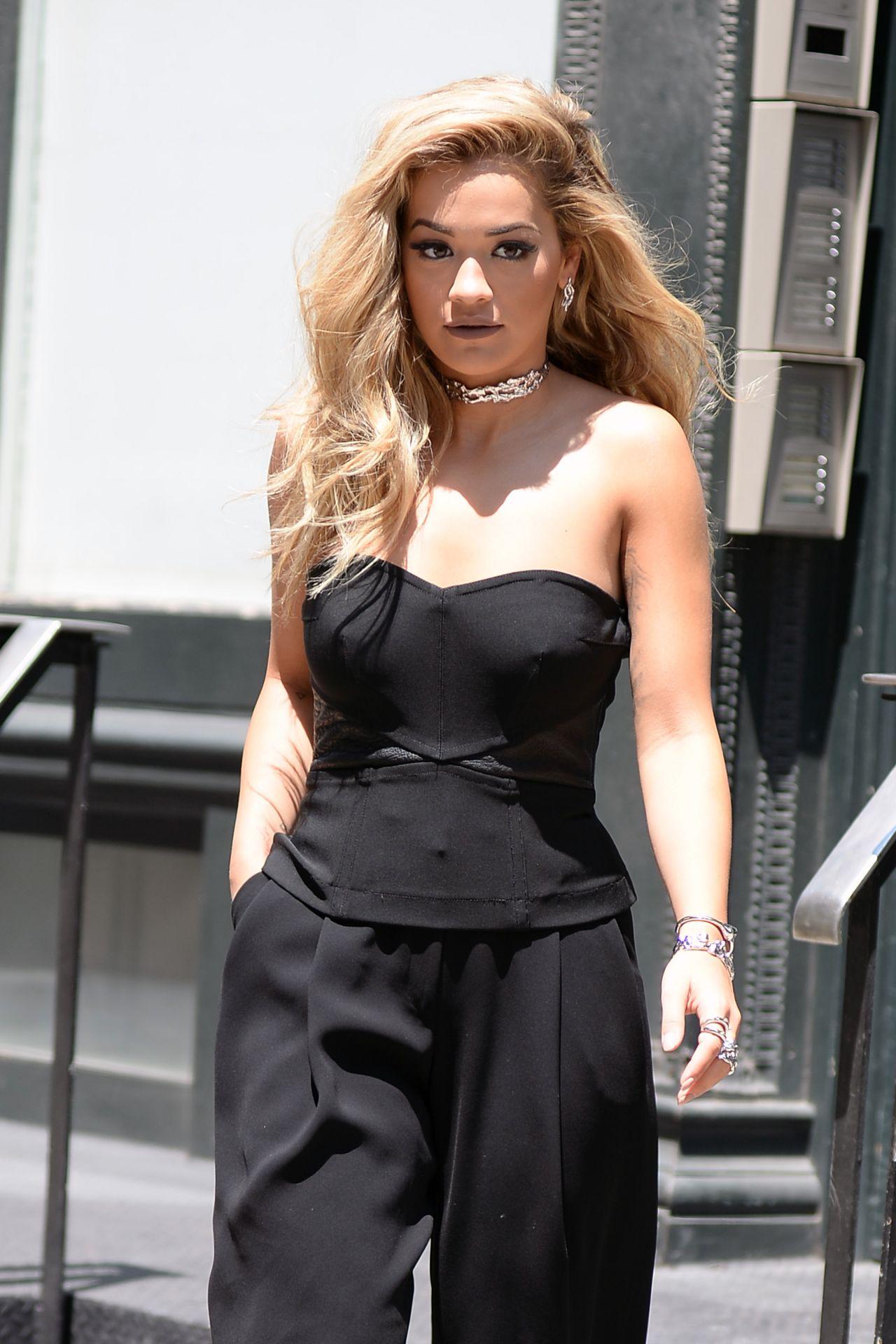 Rita Ora Fashion Shoot Photos: Leaving Her Apartment In New York City 7/25/2016