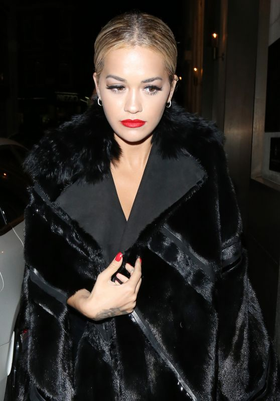 Rita Ora Night Out Style - London, 07/10/2016