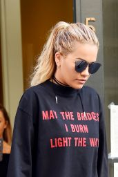 Rita Ora Out Street Fashion - New York, 7/19/2016