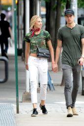 Romee Strijd Street Style - Tribeca 7/7/2016