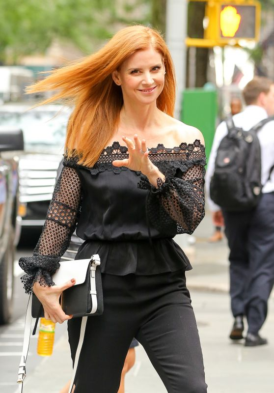 Sarah Rafferty Classy Fashion - NYC 7/14/2016