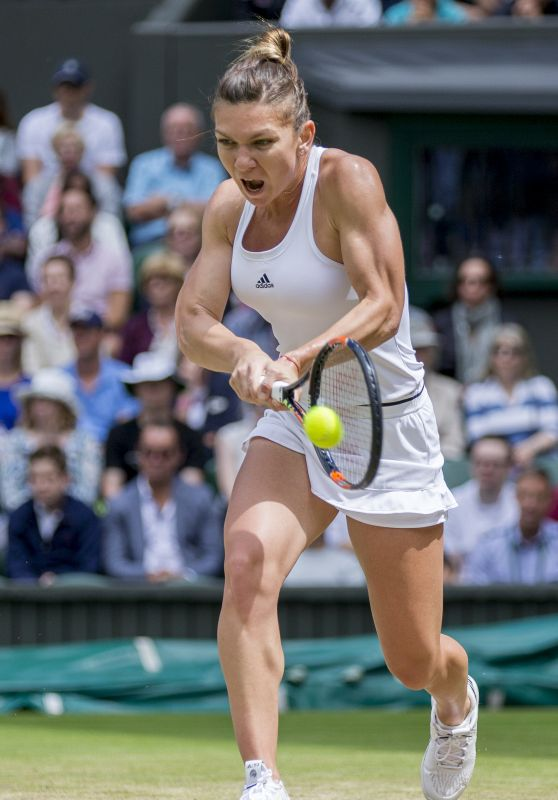 Simona Halep - Wimbledon Tennis Championships in London - Quarterfinals