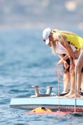 Sofia Richie in Swimsuit - Deck of a Luxury Yacht in Saint Tropez