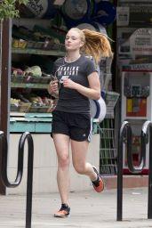 Sophie Turner - Jogging in London, 7/5/2016