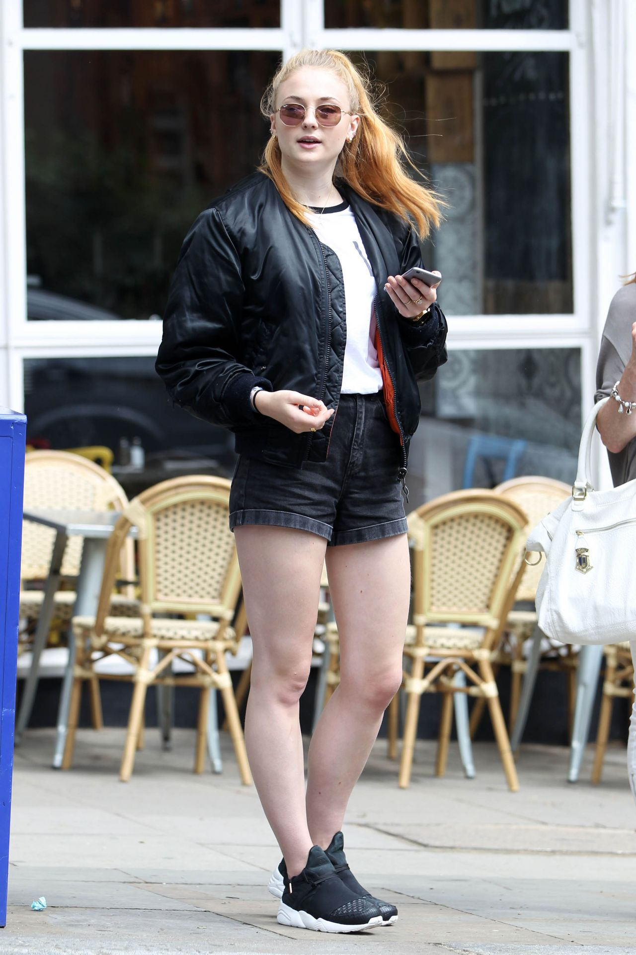 Sophie Turner Leggy In Shorts Out In Hampstead July 2016