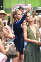 Stella Maxwell and Lily Aldridge - Manhattan, 07/26/2016