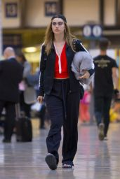 Suki Waterhouse at Paddington Station in London 6/30/2016