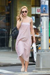 Suki Waterhouse in Summer Dress - New York City 7/20/2016