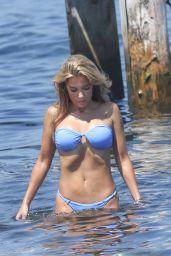 Sylvie Meis Bikini Candids - St Tropez, July 2016