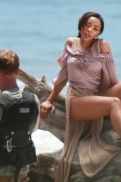 Tinashe - On the Set of a Music Video in Malibu, CA 7/20/2016
