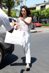 Vanessa Hudgens Casual Style - Shopping in Los Angeles 7/8/2016