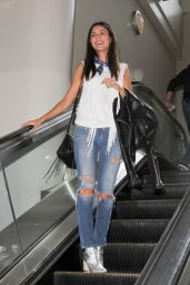 Victoria Justice in Ripped Jeans - LAX Airport 7/13/2016