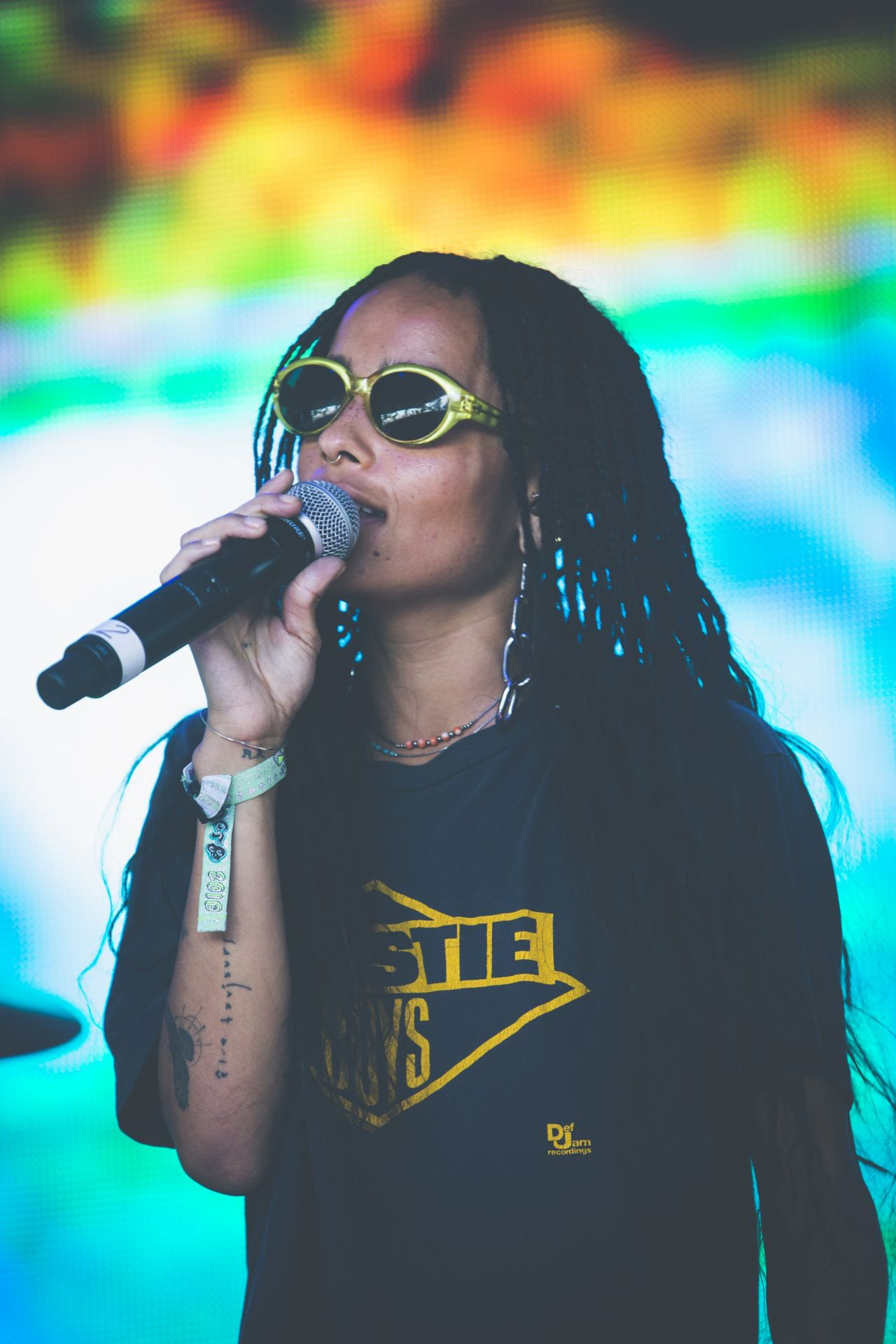 Zoe Kravitz Performs With Lolawolf At The Bonnaroo Music