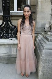 Zoe Kravitz - Valentino Haute Couture Fall-Winter 2016/2017 Show in Paris