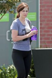 Zooey Deschanel in Leggings at the Gym in LA - 7/12/2016